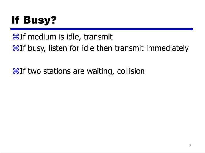 If Busy?