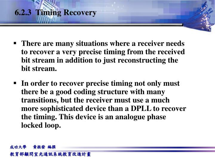6.2.3  Timing Recovery