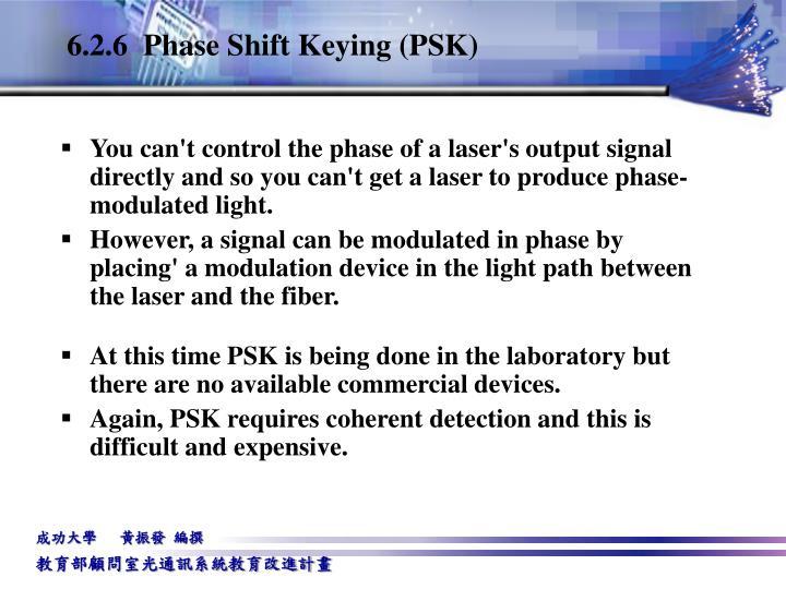 6.2.6  Phase Shift Keying (PSK)