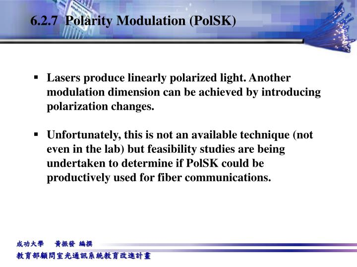 6.2.7  Polarity Modulation (PolSK)