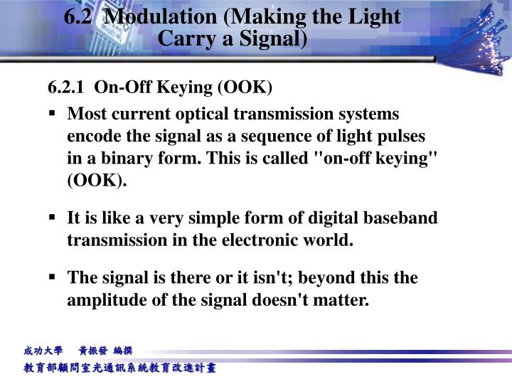 6.2  Modulation (Making the Light Carry a Signal)