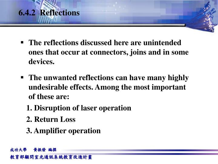 6.4.2  Reflections