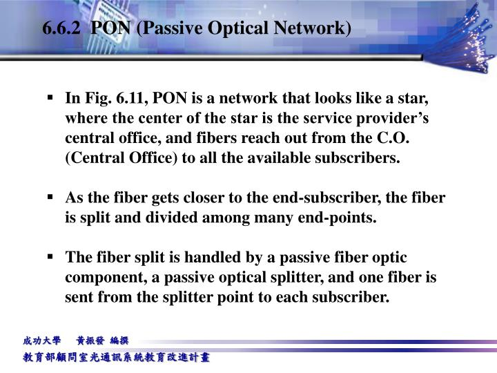 6.6.2  PON (Passive Optical Network)