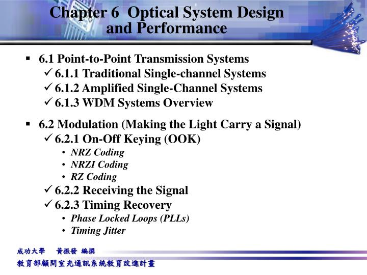 Chapter 6 optical system design and performance