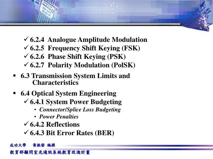 6.2.4  Analogue Amplitude Modulation