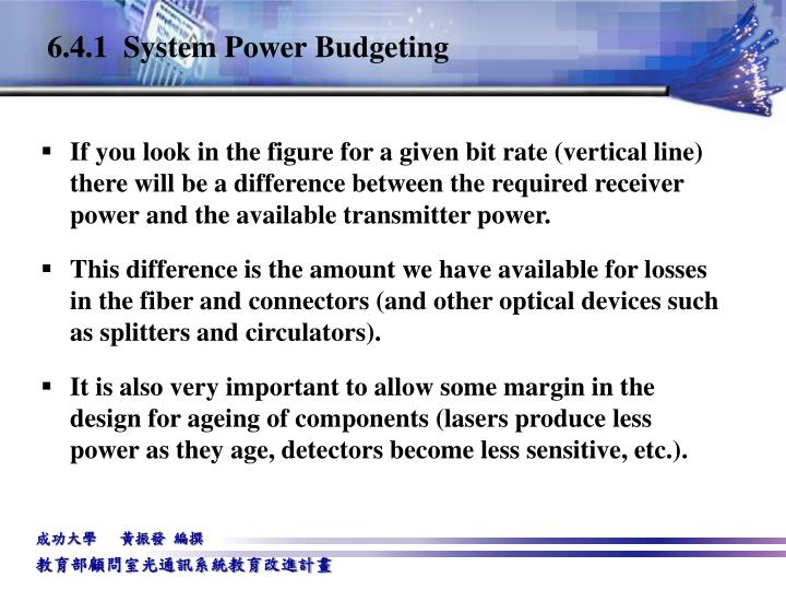 6.4.1  System Power Budgeting