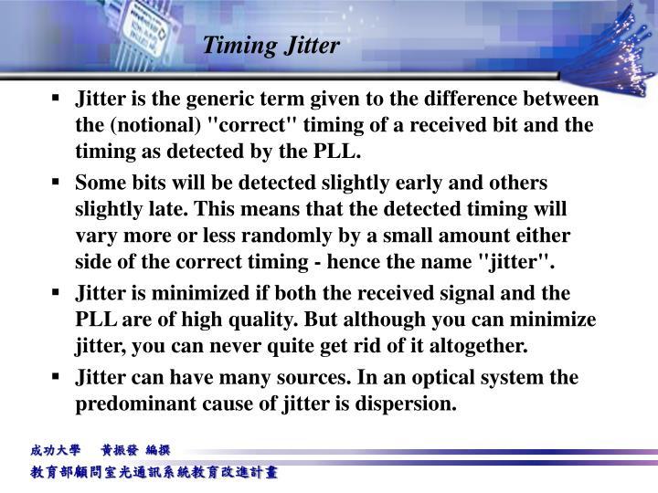 Timing Jitter