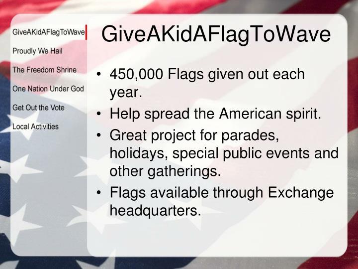 GiveAKidAFlagToWave