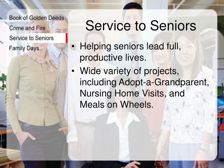 Service to Seniors