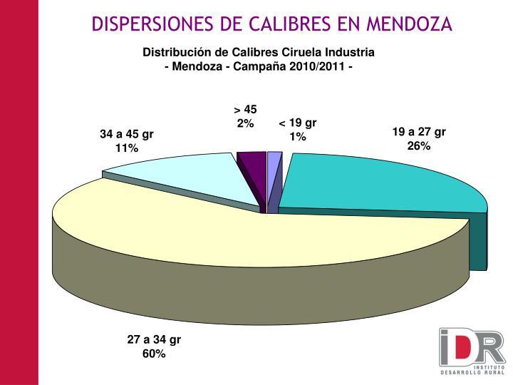 DISPERSIONES DE CALIBRES EN MENDOZA