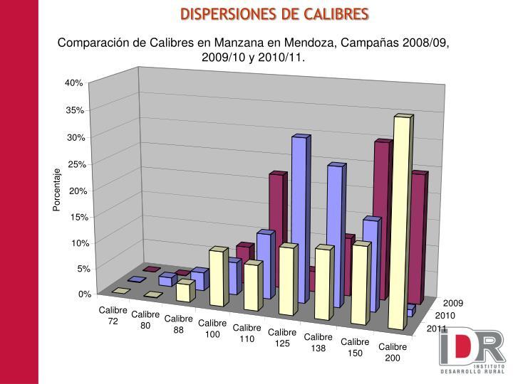 DISPERSIONES DE CALIBRES