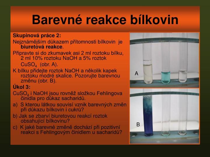 Barevné reakce bílkovin