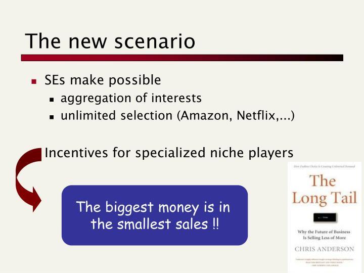 The new scenario