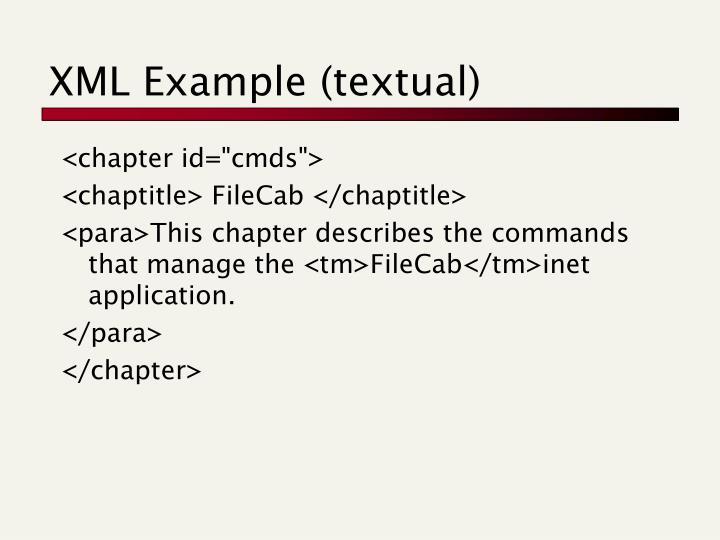 XML Example (textual)
