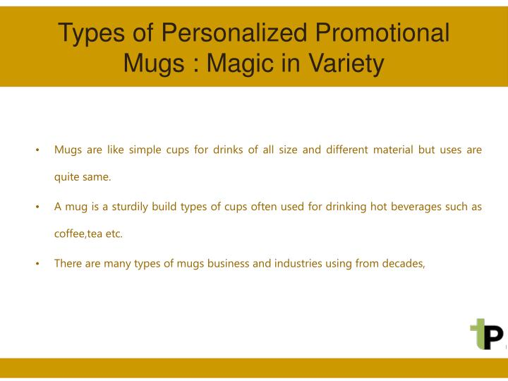 Types of personalized promotional mugs magic in variety