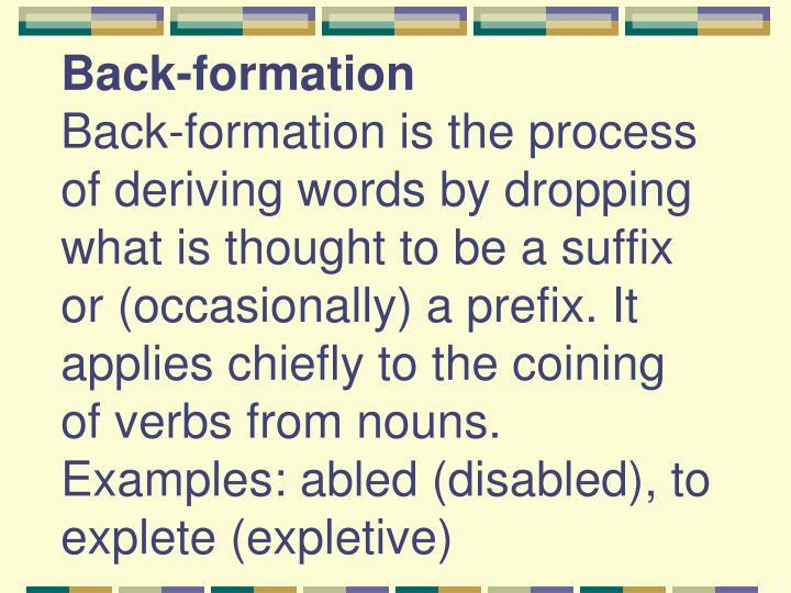 Back-formation