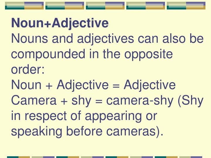 Noun+Adjective
