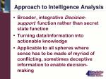 approach to intelligence analysis
