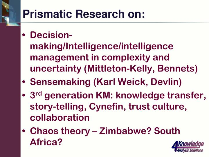 Prismatic Research on:
