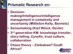 prismatic research on