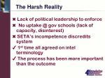 the harsh reality