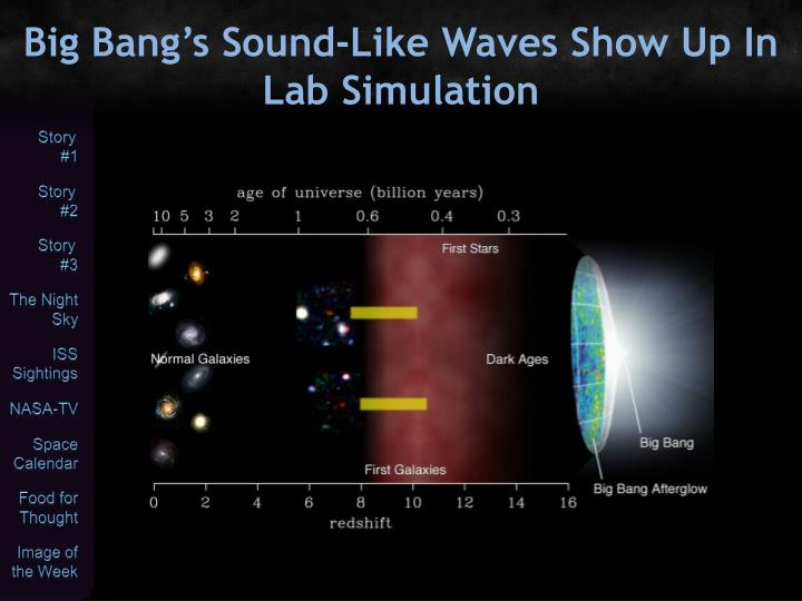 Big Bang's Sound-Like Waves Show Up In Lab Simulation