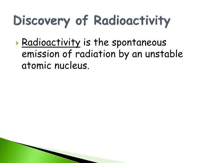 Discovery of Radioactivity