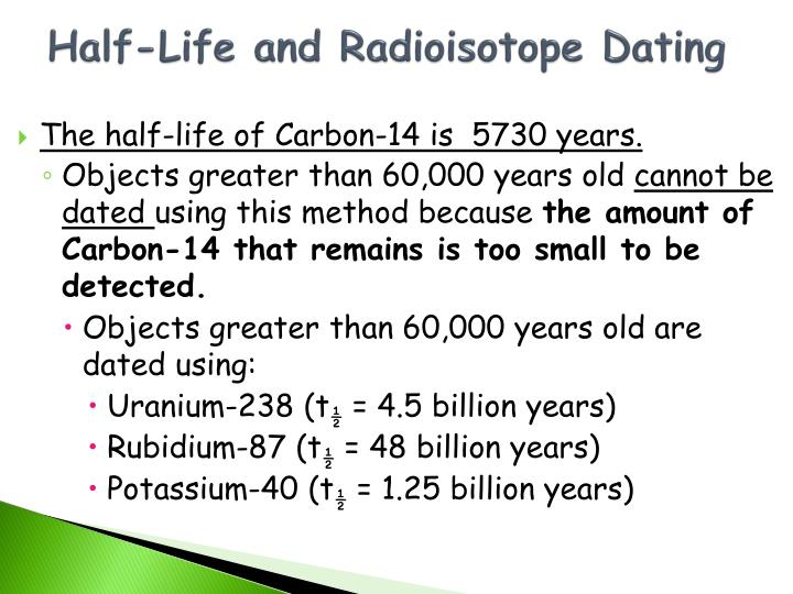 Half-Life and Radioisotope Dating