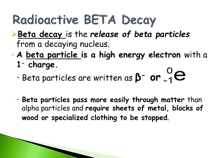 Radioactive BETA Decay