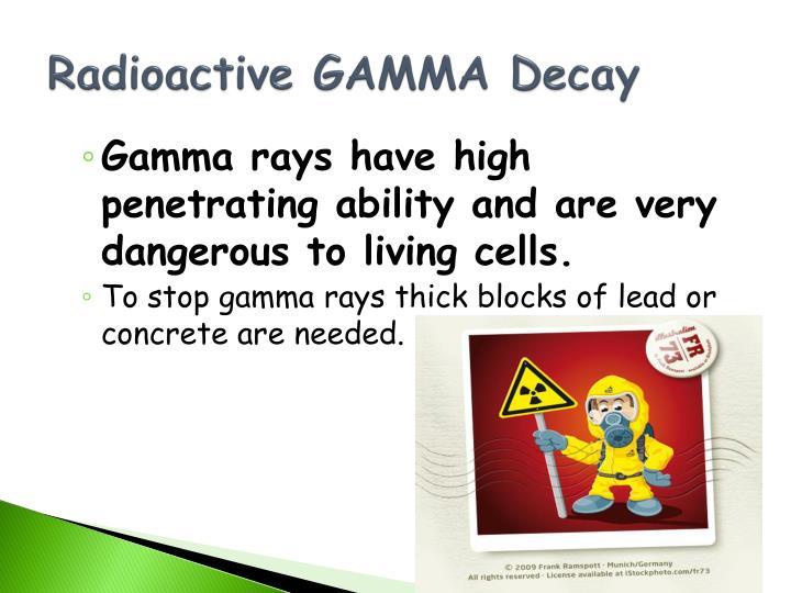 Radioactive GAMMA Decay