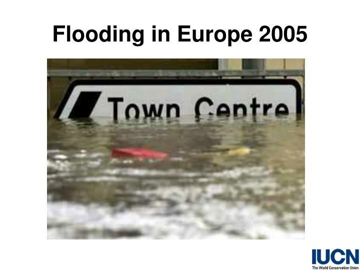 Flooding in Europe 2005