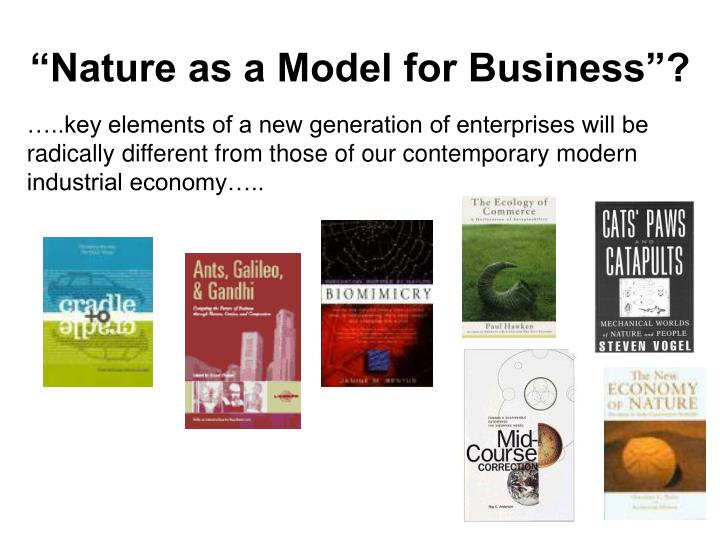 """Nature as a Model for Business""?"