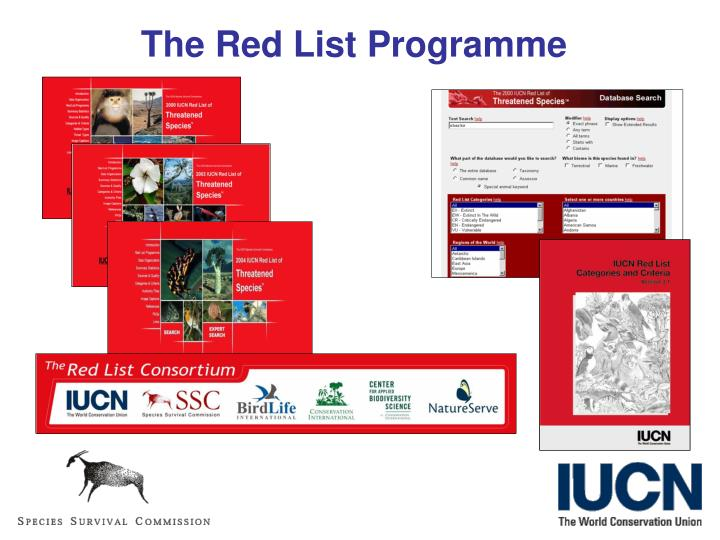 The Red List Programme