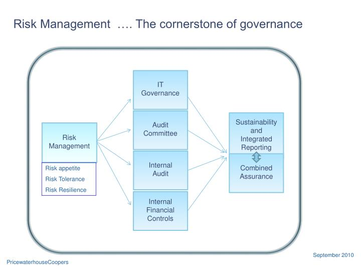 Risk Management  …. The cornerstone of governance