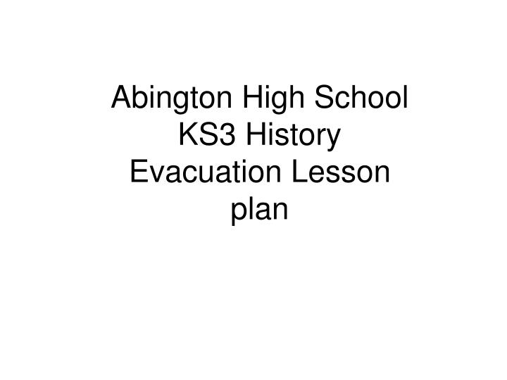 Abington High School