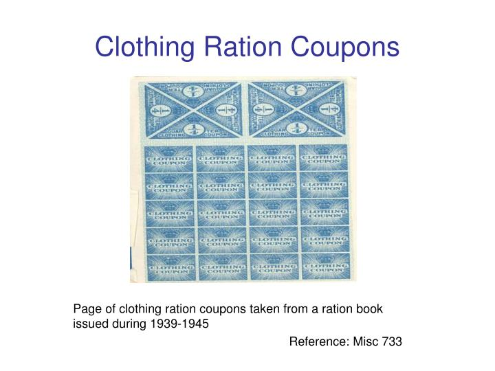 Clothing Ration Coupons