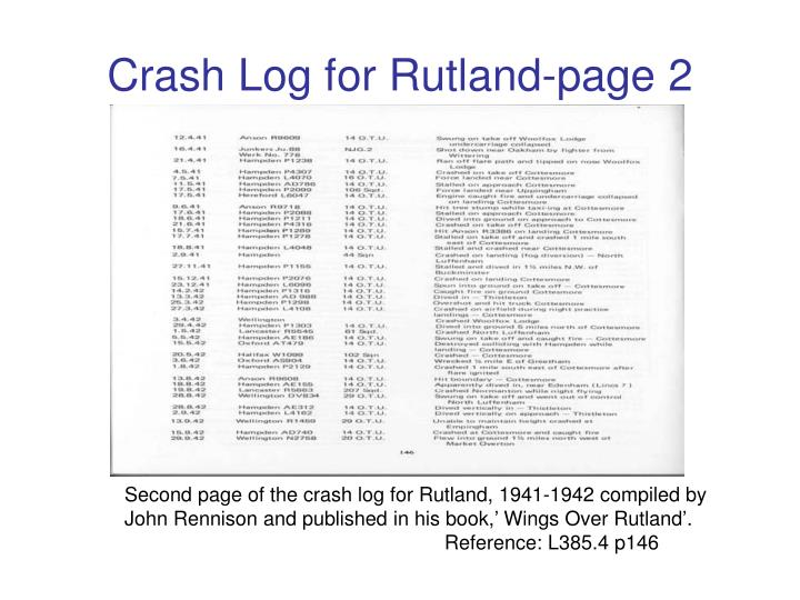 Crash Log for Rutland-page 2
