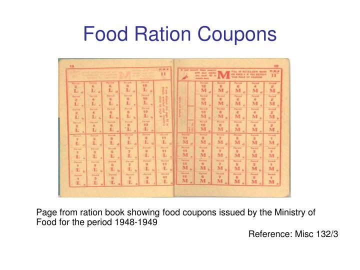 Food Ration Coupons