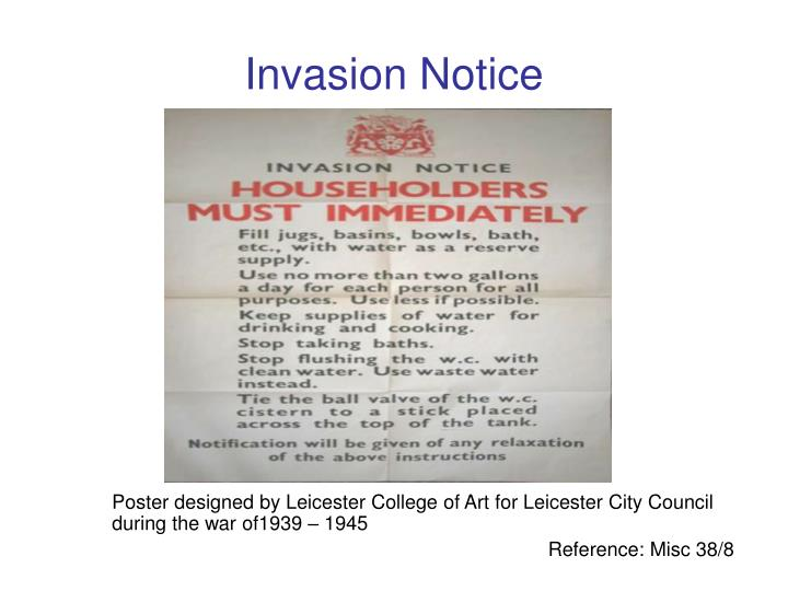 Invasion Notice