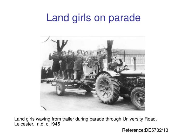Land girls on parade