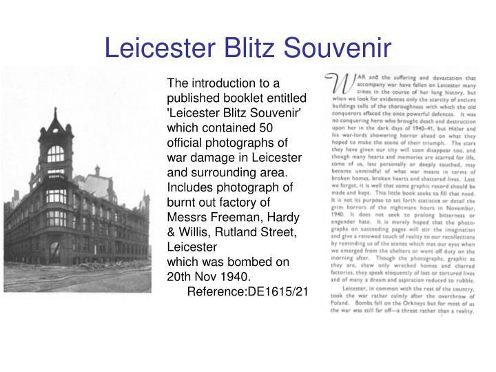 Leicester Blitz Souvenir