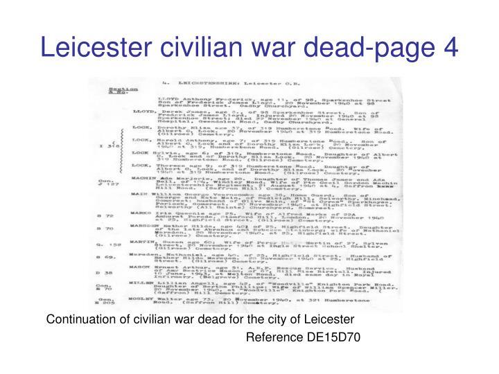 Leicester civilian war dead-page 4