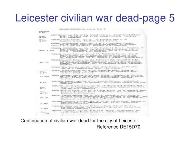 Leicester civilian war dead-page 5