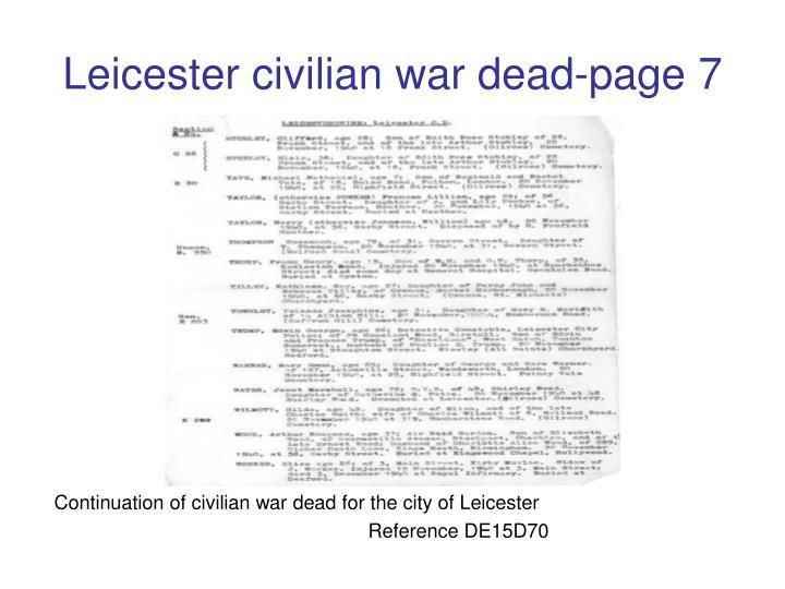 Leicester civilian war dead-page 7