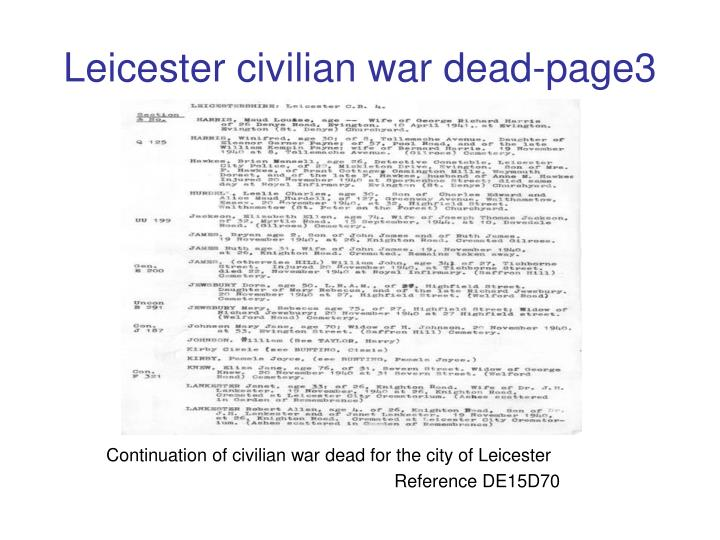 Leicester civilian war dead-page3