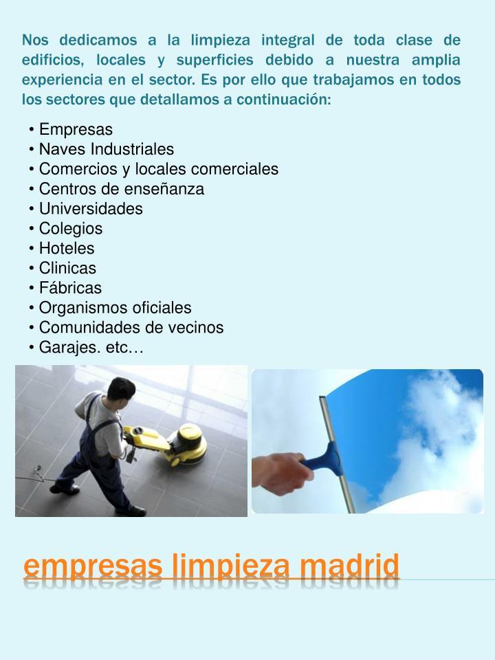 Ppt empresas limpieza madrid powerpoint presentation for Empresas limpieza hogar madrid