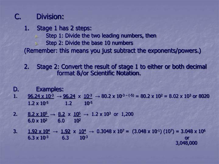 C.Division: