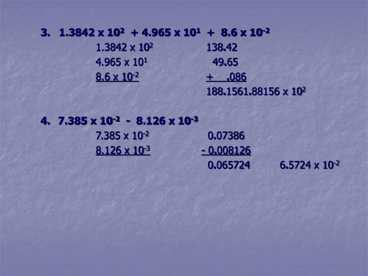 3.  1.3842 x 10