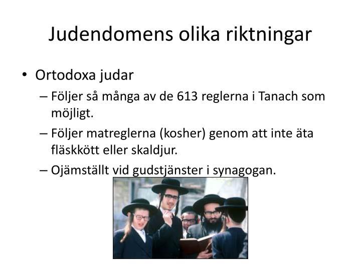 Judendomens olika riktningar
