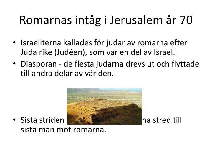 Romarnas intåg i Jerusalem år 70